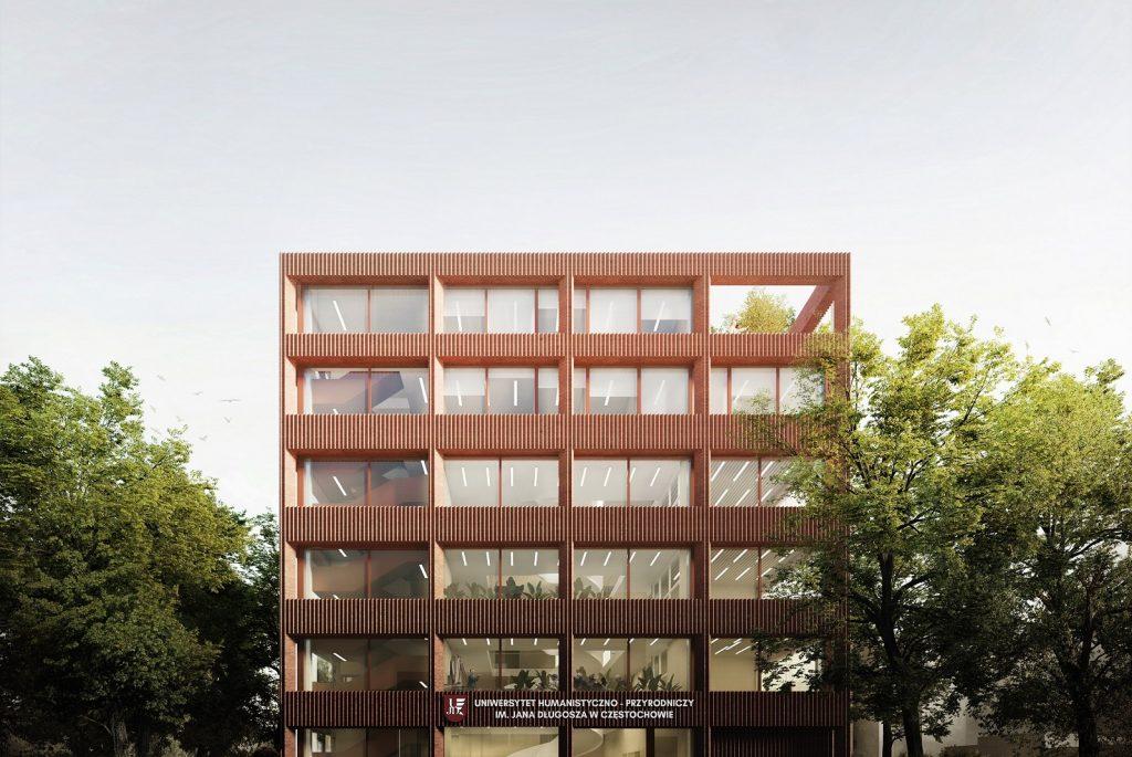ARCHITEKTURA CEGLANA budynek dydaktyczny z cegły